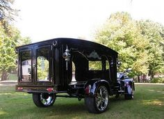 custom harley davidson hearse - rear view