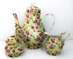 Teapot - Sugar & Creamer Set:):)