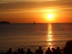 Sunset from Cafe del mar, Ibiza