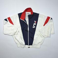Rare Vintage 80s 90s FILA INTERNATIONAL Windbreaker Jacket / Fila Italia Tennis Wind Up Shell Jacket / Retro Streetwear Vintage Color Block