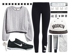 """""""Untitled #184"""" by supersquirrelgirlq ❤ liked on Polyvore featuring H&M, adidas Originals, NIKE, Uncommon, JUST DON, Paul Smith, GHD, shu uemura and Maison Margiela"""