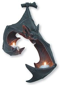 Vampire Bat Wall Sconce Candle Holder