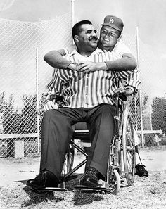 1963-Roy Campanella and Don Drysdale