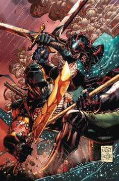 DEATHSTROKE #10 Written by TONY S. DANIEL and JAMES BONNY Art and cover by TONY S. DANIEL and SANDU FLOREA GREEN LANTERN 75 Variant cover by DAVE JOHNSON