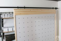 This DIY Sliding Fabric Door is a great idea if you want to save money on & How To Build A Lightweight Sliding Barn Door | Barn doors Barn and ...