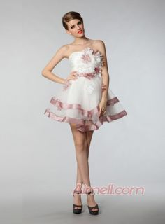 Strapless Ball Gown Mini Length Tull Cocktail Dresses P-6750 - special occasion dresses Aimell Online Store