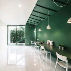 Interior Color blocking workplace office