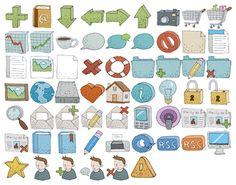 hand drawn icon Hand drawn Web Icons Set for free