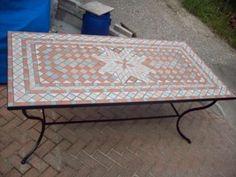 Tavoli da giardino - Tavolo da giardino con rivestimento in mosaico