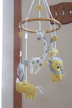 Jungle Lullaby, (choose your colors) Original baby mobiles since 2009. $60.00, via Etsy.