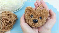 Crochet Bear, Crochet Patterns Amigurumi, Crochet Toys, Yarn Animals, Pom Pom Animals, Pom Pom Crafts, Yarn Crafts, Diy For Kids, Crafts For Kids