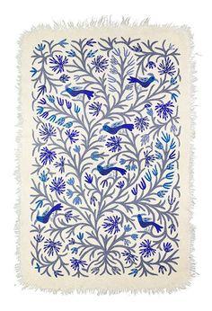 BIRDS CARPET BLUE&GREY by Tikau (125x180cm) – TIKAU