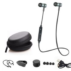 Qualified D7 In-ear Headset Kopfhörer Other Cell Phones & Accs mikrofon Bass Schwarz Hybird Ohrhörer Samsung S8