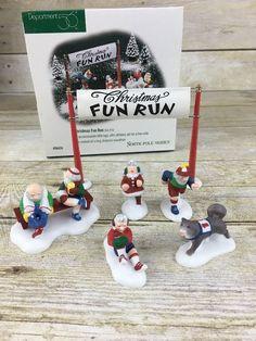Dept 56 North Pole Christmas Fun Run 56434 Handpainted    eBay