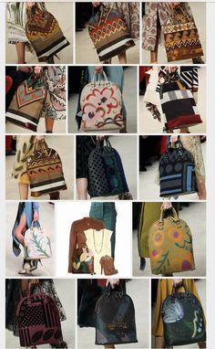 Burberry hand painted handbags!
