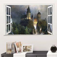 Magic Harry Potter Wall Stickers Poster 3D Window Hogwarts Decorative – Luxberra