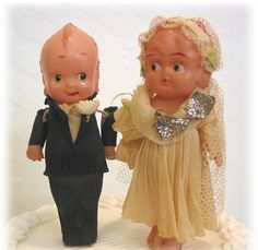 vintage cewpie wedding cake toppers
