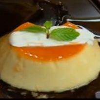 Coconut and Lychee Creme Caramel: An Asian twist to caramel #custard with lychees and #coconut milk.