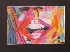 LAchen, Seele, offener Mund, bunt, schöne Zähne, MW Art Marion Waschk, Künstlerin, Zeichnung, Wanddeko, deliriousdark,  Gemälde,  Mund, pink, Künstlerfarben,