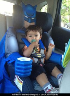 He's the car seat Gotham needs right now...