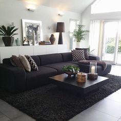 Living Room Ideas With Black Leather Furniture Decor Sofa Best Colour Cushions For Google Search Home Kristina Ivarsson Kristinaivarsson Instagram Photos Websta