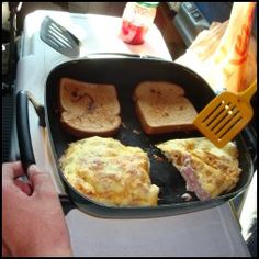 Cooking a Ham and Cheese Omelette in Your Tractor Trailer
