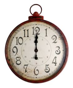Take a look at the Red Vintage Wall Clock on #zulily today!