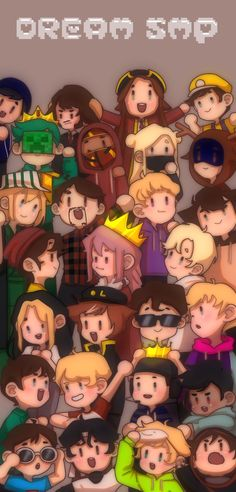 My Dream Team, Just Dream, Animes Wallpapers, Cute Wallpapers, Team Wallpaper, Minecraft Wallpaper, Dream Friends, Minecraft Fan Art, Minecraft Houses