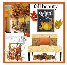 """Decorate With Fall Colors"" by hastypudding ❤ liked on Polyvore featuring interior, interiors, interior design, home, home decor, interior decorating, Dot & Bo, Harvest, colorchallenge and FallColors"