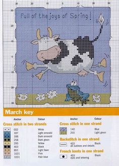 Cow cross stitch