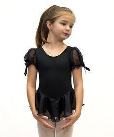 Look what I found on #zulily! Ferreira Black Tank Puff-Sleeve Skirted Leotard - Toddler & Girls by Ferreira #zulilyfinds