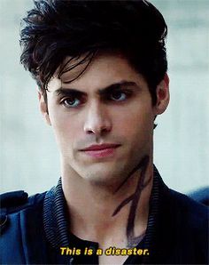 Shadowhunters ...  Basically Alec summoning up everything that has to do with Clary as far as he is concerned :-)  ...      alexander 'alec' lightwood, the mortal instruments, shadowhunters, matthew daddario