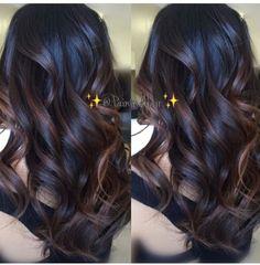 Cute Balayage Dark Hair