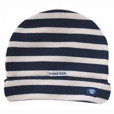 bonnet tricot rayé bleu marine et blanc Armor Lux, Armor Kids    épinglé  par Mayoparasol Ⓡ, maillots de bain anti UV et vêtements anti UV bébé,  enfant, ... 0e0f6db4ea0