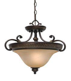 Golden Lighting Jefferson 3 Light Convertible Semi Flush Gl 6029 Sf