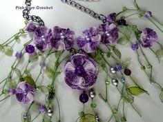 Crochet+Flower+Necklace   Natka – Crochet Flower Necklace »Colar Natka – Crochet Flowers ...