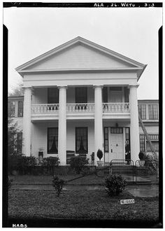3.  Historic American Buildings Survey W. N. Manning, Photographer, March 30, 1935 CLOSE- UP OF FRONT OF HOUSE FACES E. - Bates-Jesse House, 311 Government Street, Wetumpka, Elmore County, AL