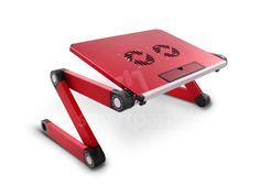 Red Laptop Table with Cooler