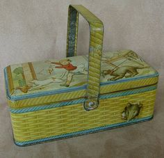 Vintage 20's French lunch box biscuit tin