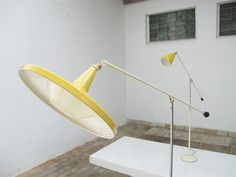 Wim Rietveld Panama Floor Lamp for Gispen 1955