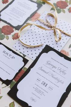 Love this simple yet sweet black and white #wedding #invitation suite from Crafty Pie Press