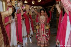 Beautiful punjabi bride in wedding gown jst a different look