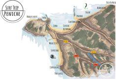 Surf map of #peniche #portugal  Peniche | SURF TRIP PORTUGAL