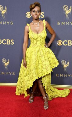 Ryan Michelle Bathe from 2017 Emmys Red Carpet Arrivals  The proportions are all wrong.