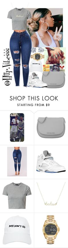 """Untitled #1049"" by jazaiah7 ❤ liked on Polyvore featuring Michael Kors, Retrò, New Look and Nasaseasons"
