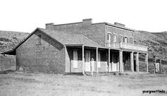 The Whaley house in Old Town San Diego in the early days. This is one of the most haunted places in the US.