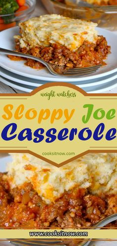 Delicious homemade sloppy joes in a cornbread casse… Sloppy Joe Casserole Recipe. Delicious homemade sloppy joes in a cornbread casserole you're sure to love! Sloppy Joe Casserole, Cornbread Casserole, Casserole Dishes, Casserole Recipes, Breakfast Casserole, Ww Recipes, Gourmet Recipes, Cooking Recipes, Healthy Recipes
