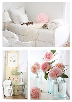 ... beautiful-pastel-coloured-shabby-chic-Country-Farmhouse-bedroom