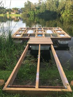 The Boathouse: a new definition to lakefront living! Floating Dock, Floating House, Lakeside Living, Outdoor Living, Building A Dock, Farm Pond, Lake Dock, Pond Life, Pond Landscaping