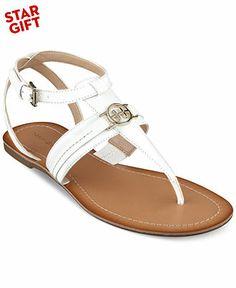 Tommy Hilfiger Women's Lorine Flat Thong Sandals - Shoes - Macy's